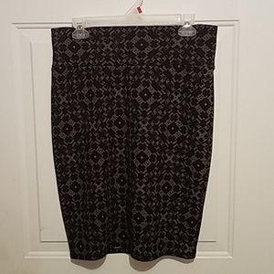 Large Lularoe Cassie pencil skirt